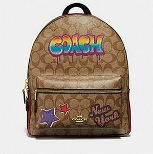 Coach Graffiti Charlie Backpack